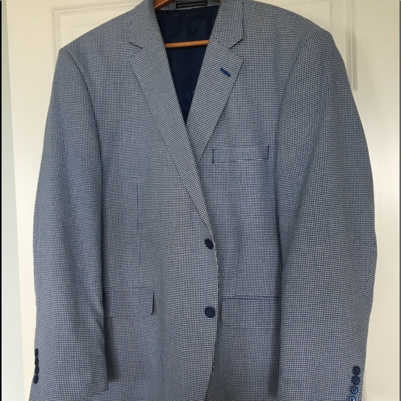Jones New York Other - Jones New York R48 Blue/White Check Sports Coat